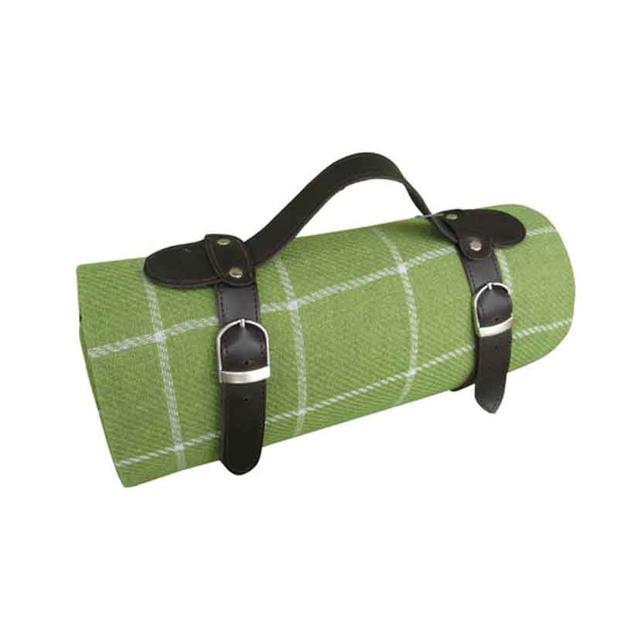 Satara Blanket Green and Beige Stripes