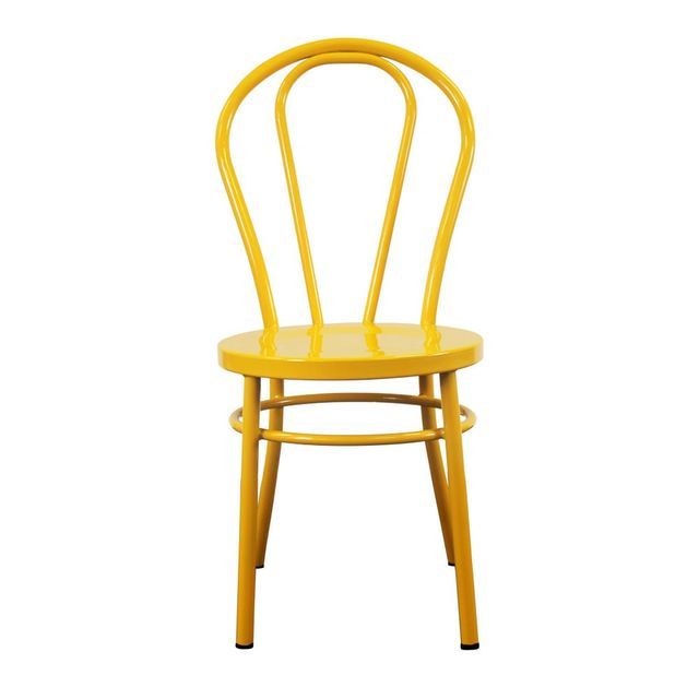1st Dibs No.18 Steel Cabaret Chair in Yellow