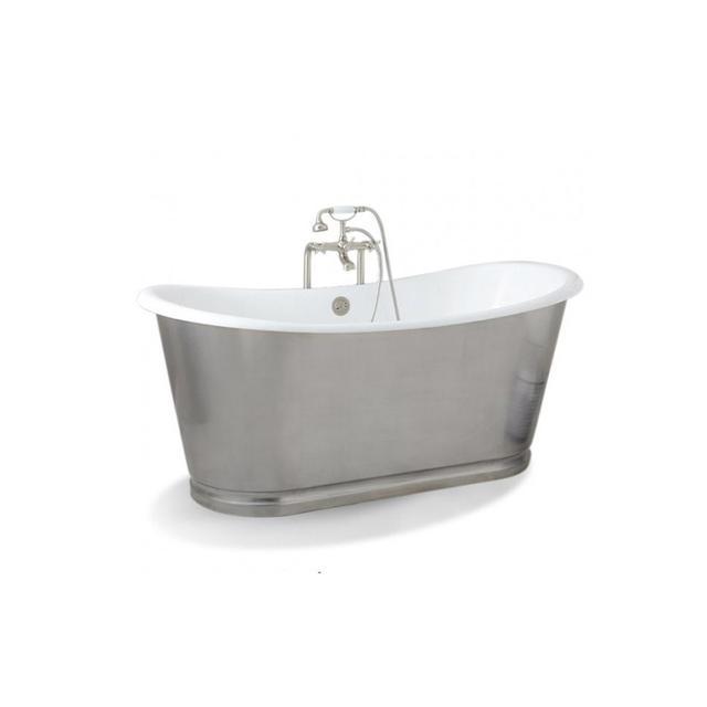 Baths Vanities Barcelona Polished 168cm Slipper Cast Iron Bath Prodigg