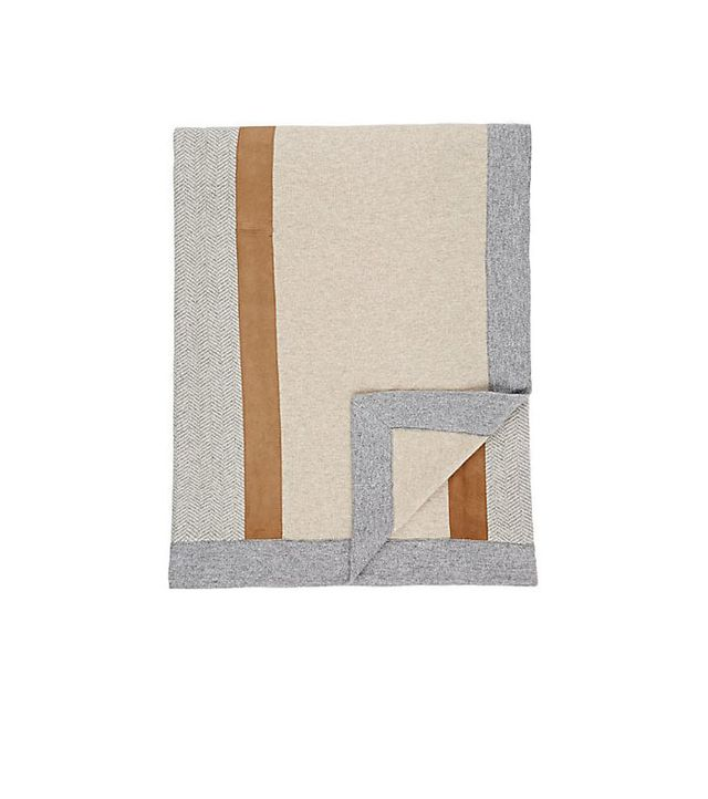 Suede-Detailed Cashmere Throw