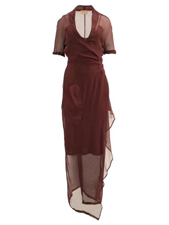 Albus Lumen Sophia Wrap Dress with Shell Buckle Detail