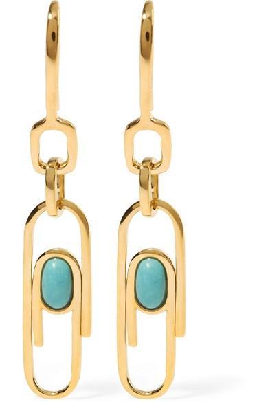 Aurelie Bidermann Angelica Gold-Plated Resin Earrings