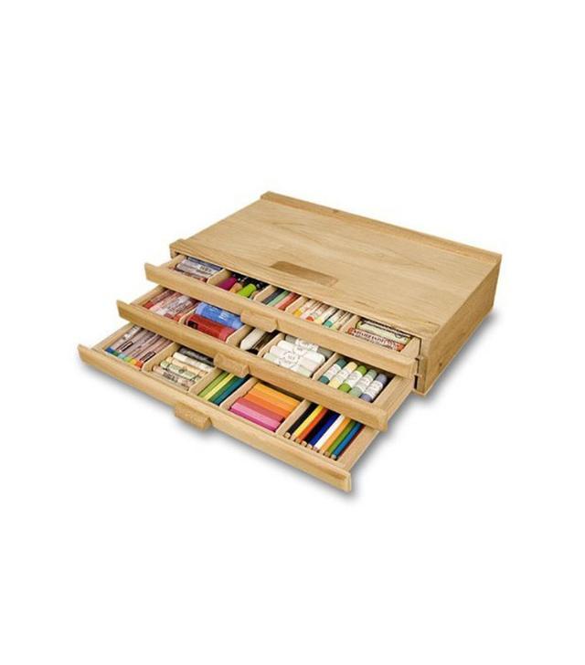 Creative Mark 3 Drawer Wood Pastel Box