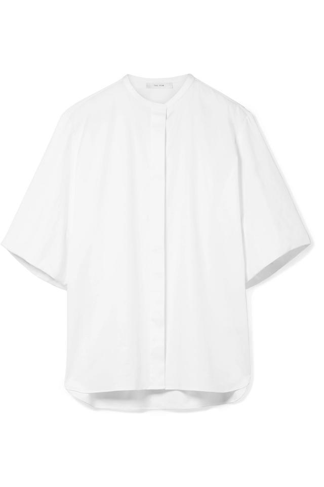 The Row Raul Stretch-Cotton Poplin Shirt