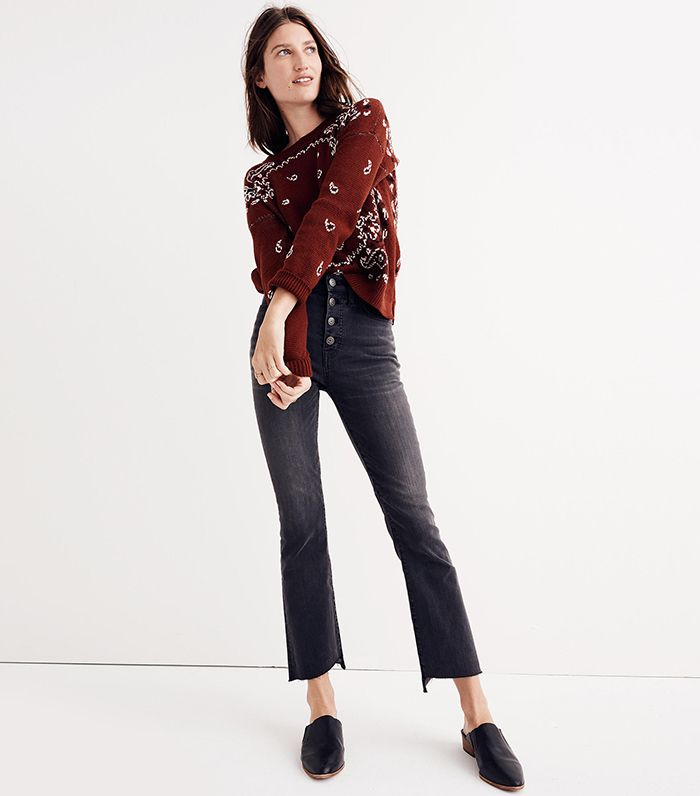 278110643b8 7 Rules for Wearing Cropped Flared Jeans