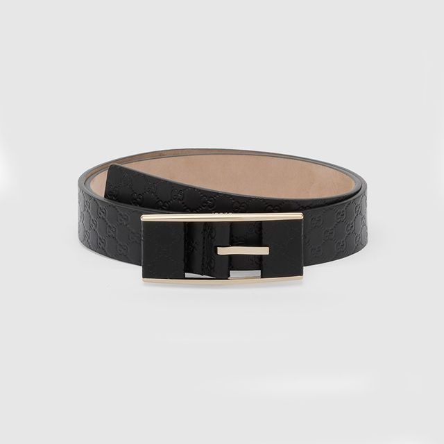 Gucci Thin Belt With Covered Buckle