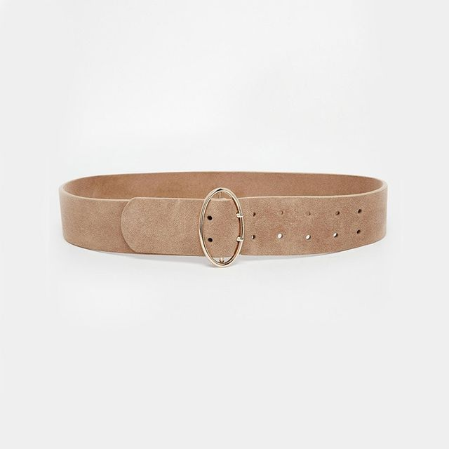 Topshop Double Prong Oval Suede Waist Belt