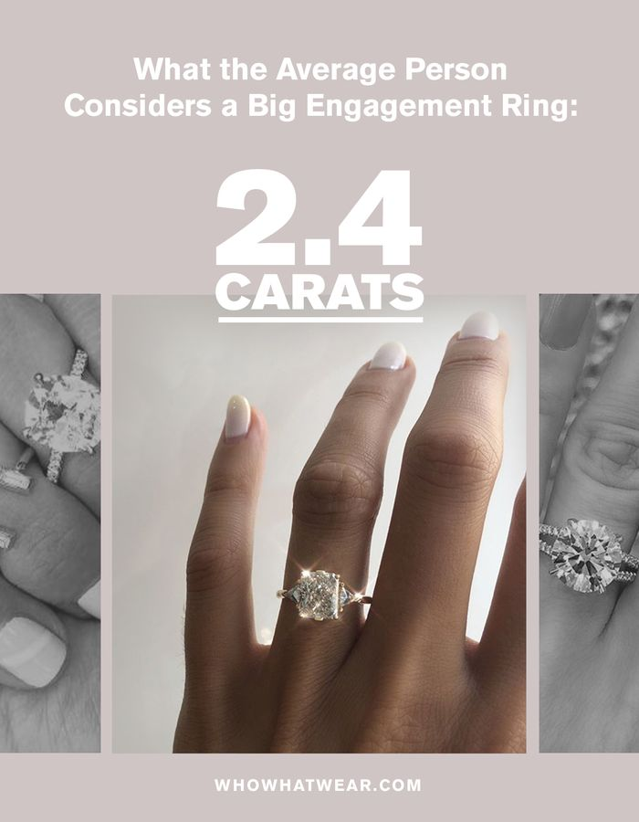 This Is The Average Carat Size For An Engagement Ring Who What Wear