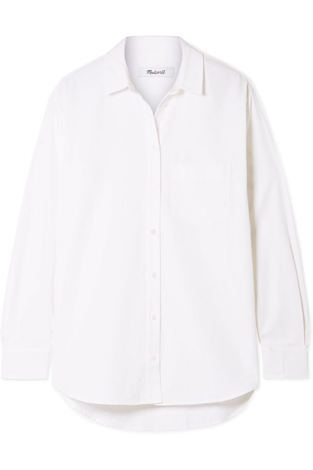 Madewell Oversized Cotton and Modal-Blend Shirt