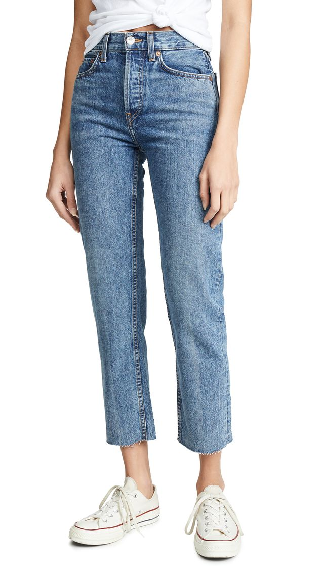 Re/Done High Rise Rigid Stove Pip Jeans