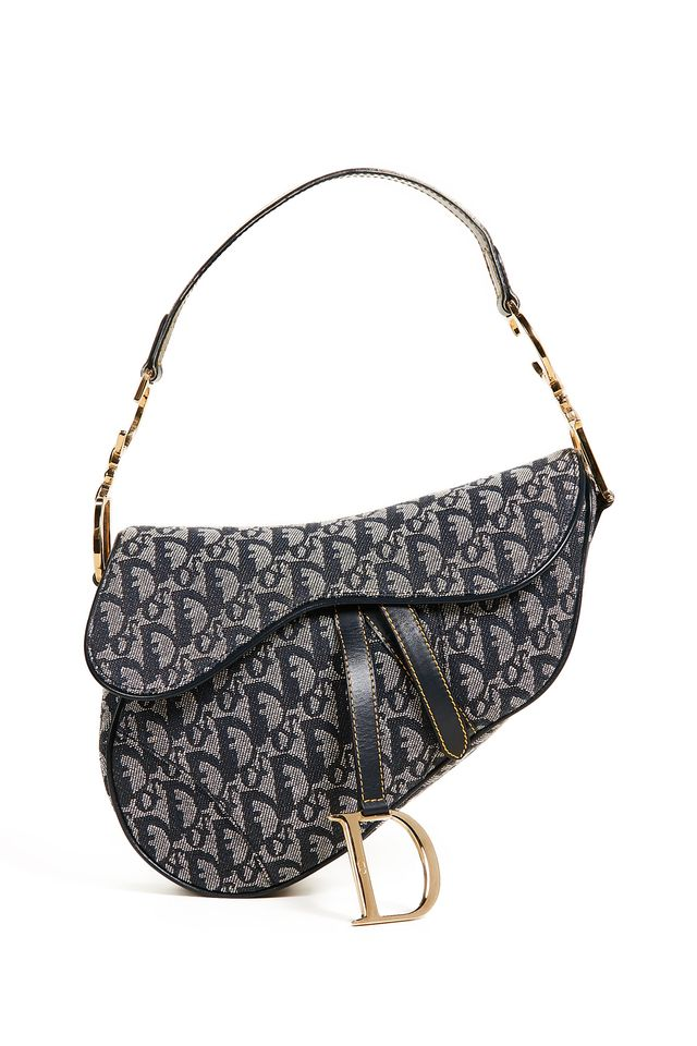 What Goes Around Comes Around Pre-Owned Dior Canvas Saddle Bag