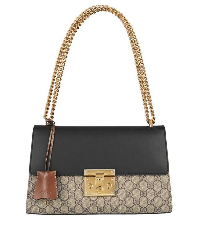 Gucci Padlock Coated Canvas and Leather Shoulder Bag