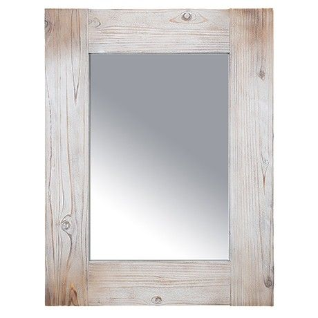 Freedom Bay Mirror in Whitewash