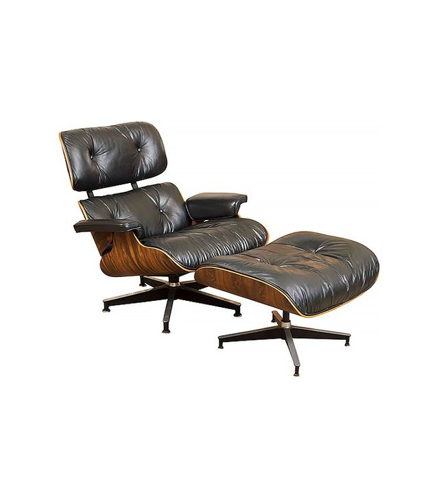 Milan Direct Lounge Chair and Ottoman - Eames Reproduction - Black