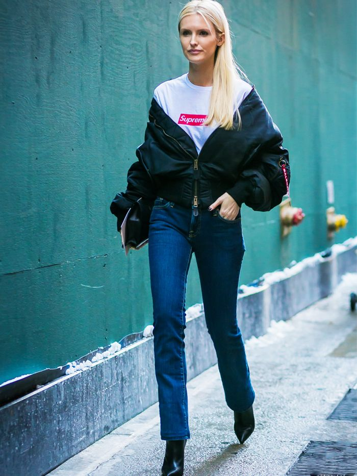 060fa1c4c How to and What to Wear With a Bomber Jacket | Who What Wear