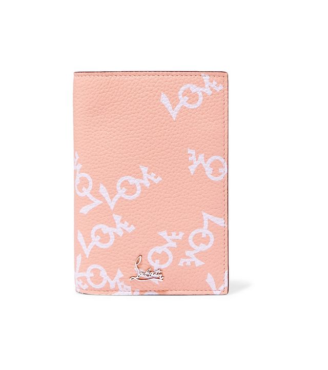 Printed Textured-leather Passport Cover