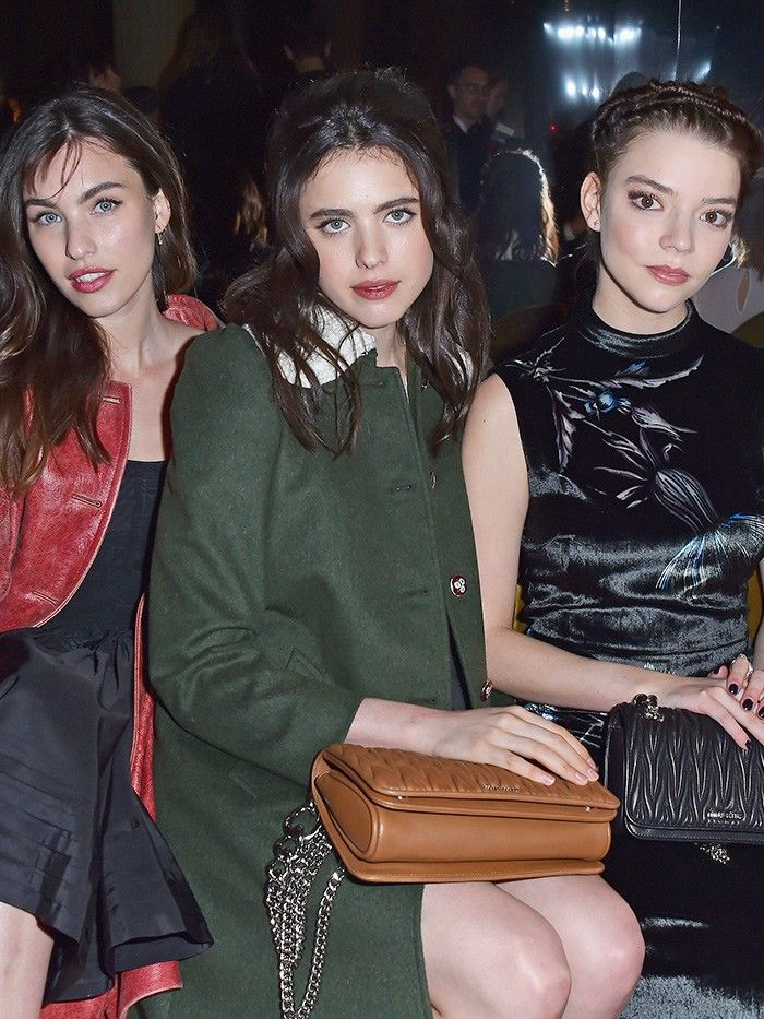 dc60f144b47 Miu Miu s Front Row Was Packed With Future It Girls
