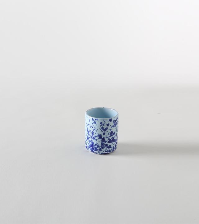 March Blue on Blue Splatterware Cup