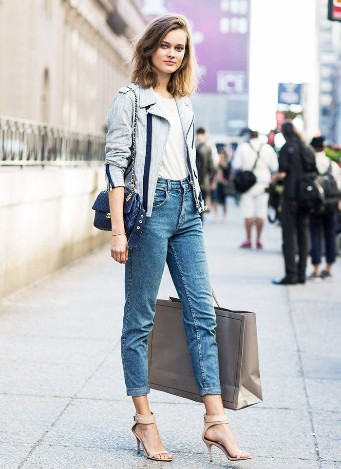 3c75765bd1cabd Stylish Jean-and-T-Shirt Outfit Ideas
