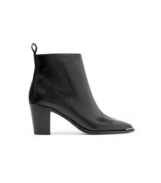 Acne Loma Leather Ankle Botos