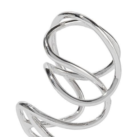Small Chaos Silver Plated Ear Cuff