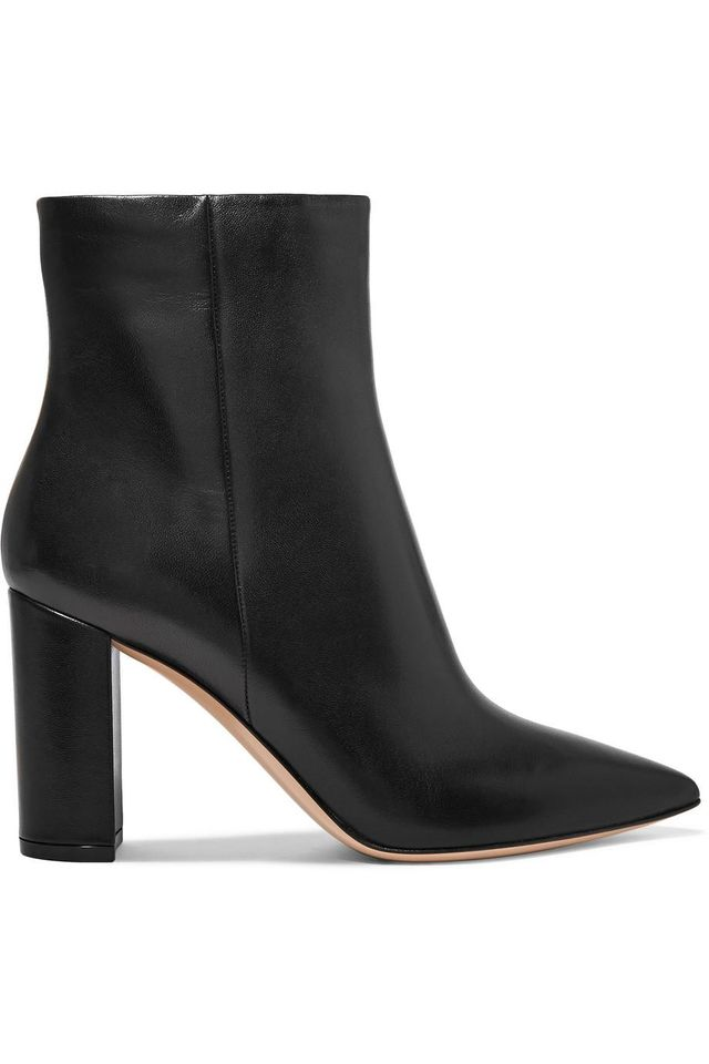 Gianvito Rossi 95 Leather Ankle Boots