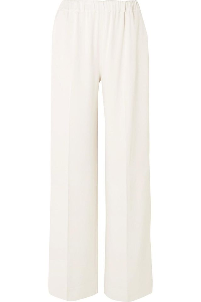Elizabeth and James Jones Hammered-Satin Wide-Leg Pants