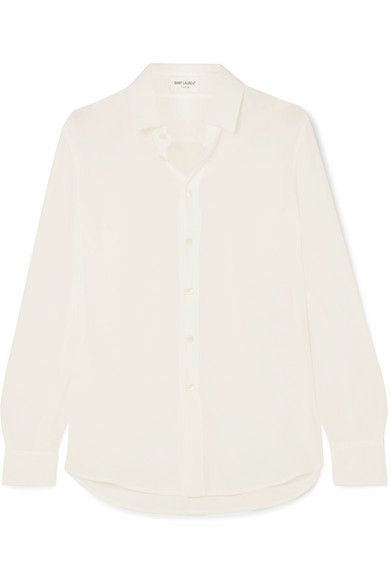 Saint Laurent Silk Crepe de Chine Shirt