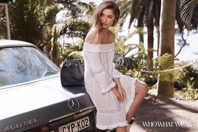 "<p>Next <a href=""http://au.nextdirect.com/en/g5784s3?utm_source=Referrer&utm_medium=Blogger&utm_campaign=whowhatwear#425358"" target=""_blank"">Off the Shoulder Dress</a>($64),<a..."