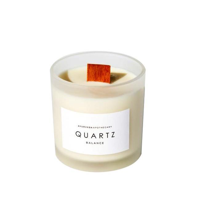 Ayurveda Apothecary Quartz Candle