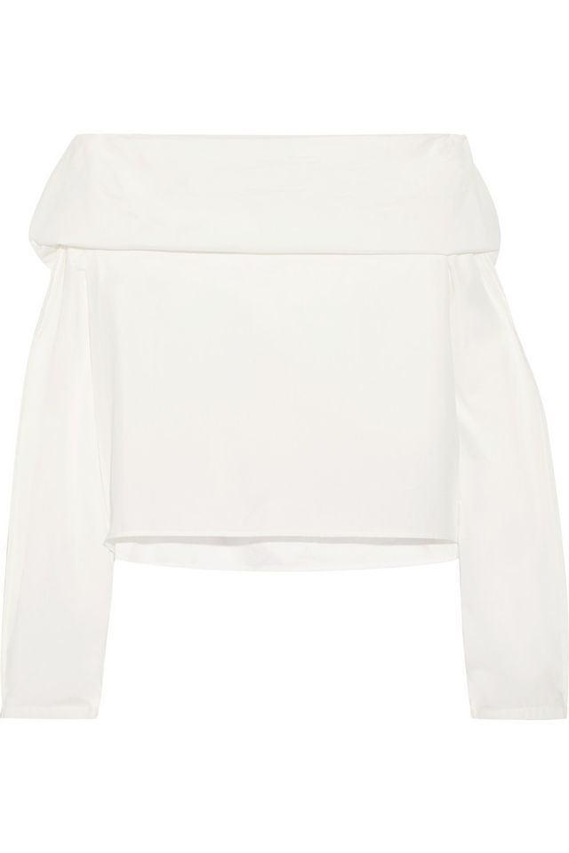Lemaire Off-the-Shoulder Cotton-poplin Top