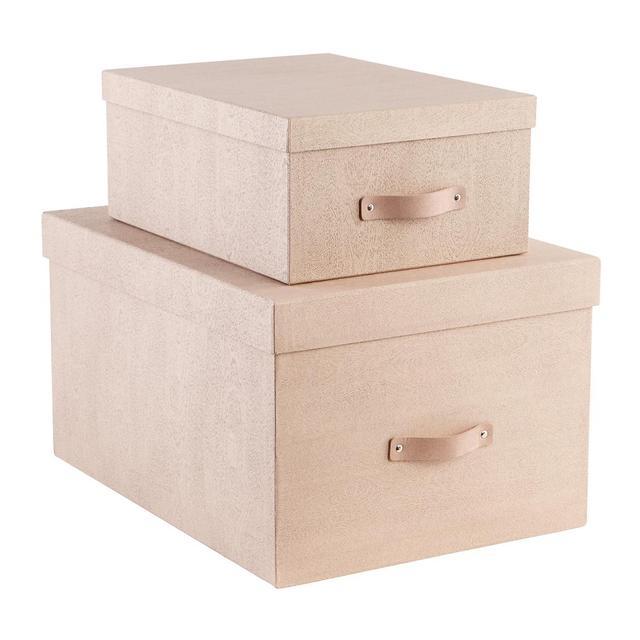 The Container Store Bigso Oak Woodgrain Storage Boxes