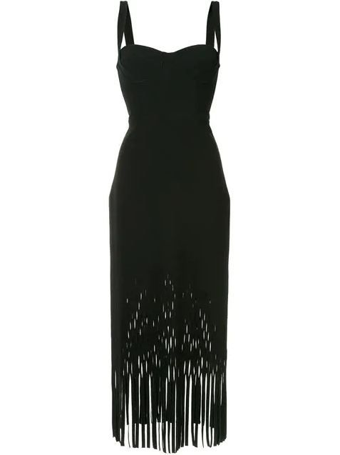 Dion Lee Fringed Sweetheart Dress