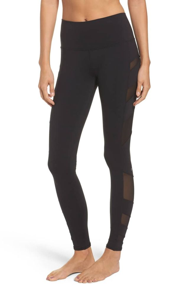Alo Block High Waist Mesh Inset Leggings