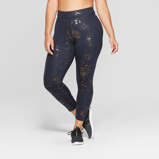 JoyLab Performance 7/8 Metallic Mid-Rise Leggings