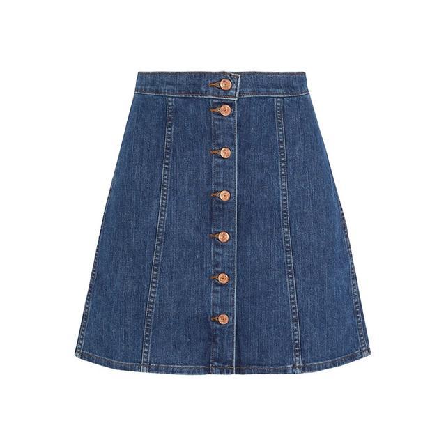 J Brand Stretch-Denim Mini Skirt