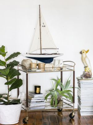 3 Surprising Ways to Style Your Bar Cart, According to These Interior Experts