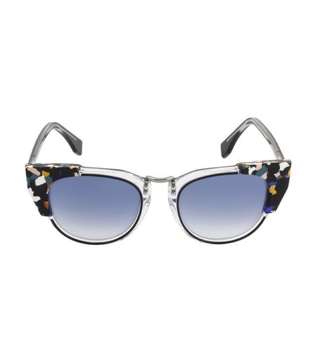 Fendi Galassia Marble Block Cat-Eye Sunglasses