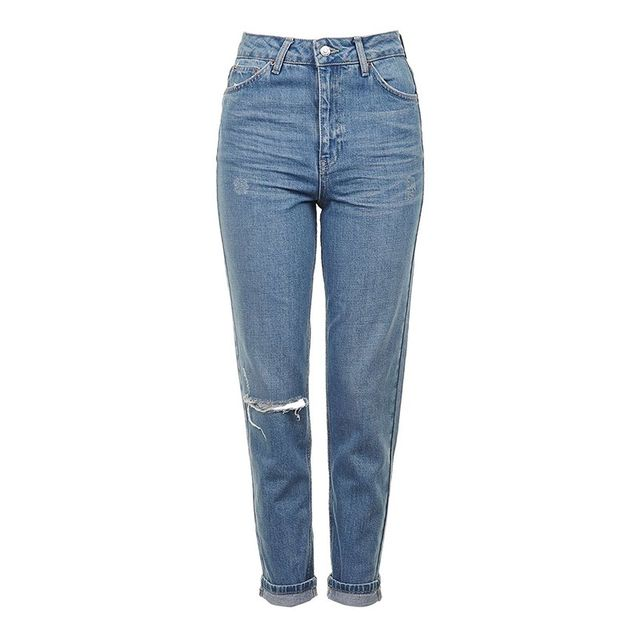 Topshop Moto Ripped Mom Jeans