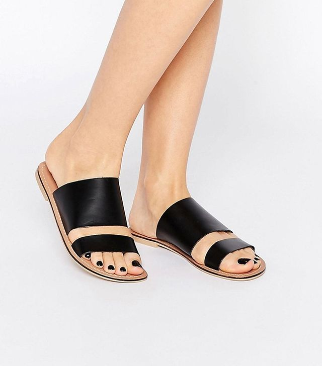 ASOS FIREBALL Leather Mule Sandals