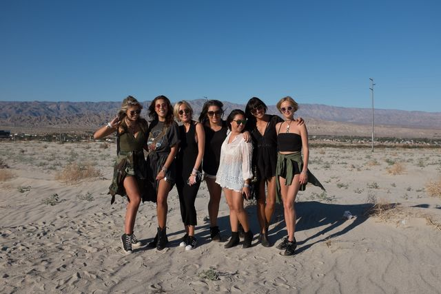<p>With the team at Coachella.</p>