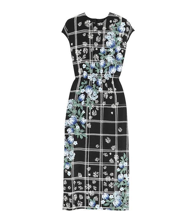 Mother of Pearl Kara Printed Silk-Jersey Midi Dress