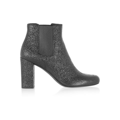 Babies Cracked Leather Ankle Boots