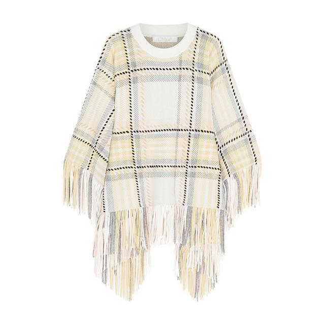 Chloe Fringed Wool Poncho