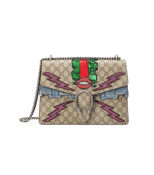 Gucci Dionysus GG Supreme Embroidered Bag