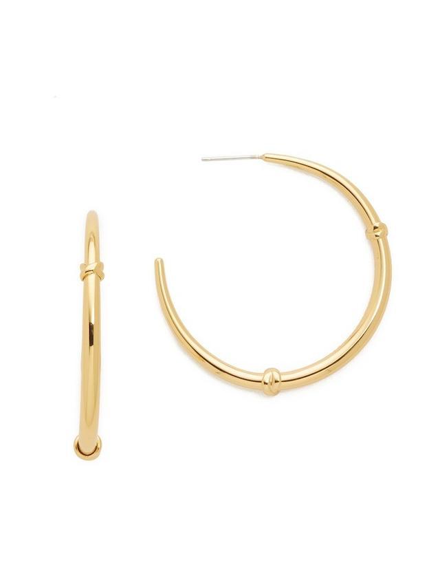 Tory Burch Wrapped Horn Hoop Earrings