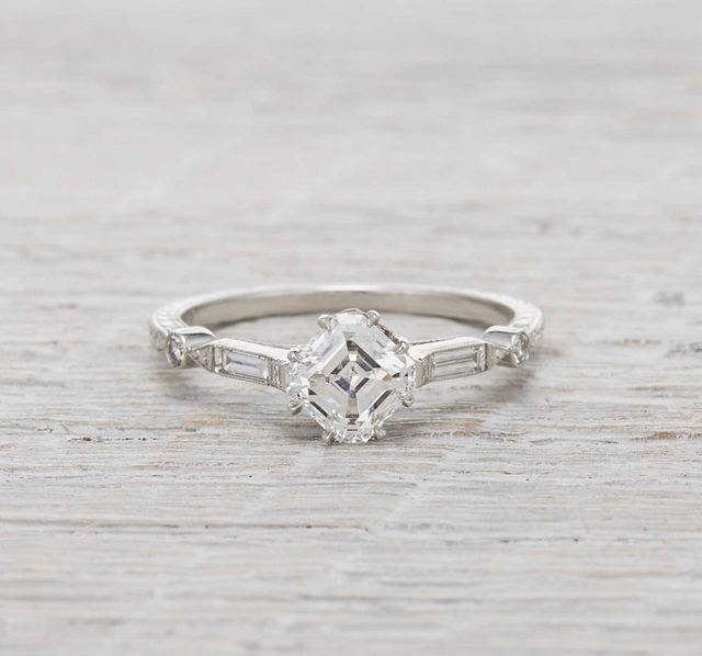 Erstwhile Jewelry Asscher Prism Shifter Ring