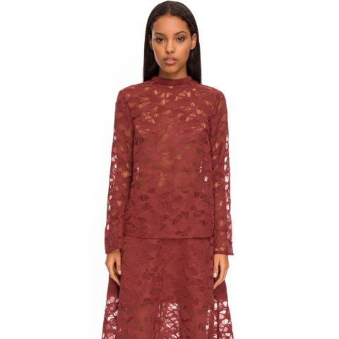 All Talk Long Sleeve Lace Top
