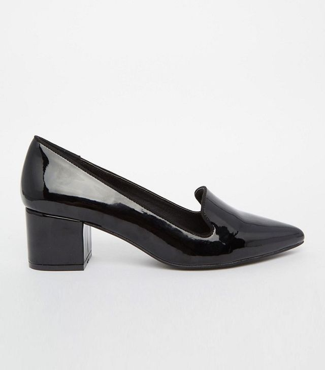 London Rebel Mid Heeled Loafers