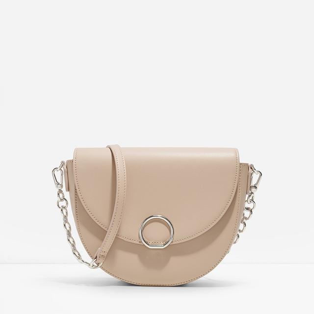 Charles & Keith Circular Buckle Saddle Bag
